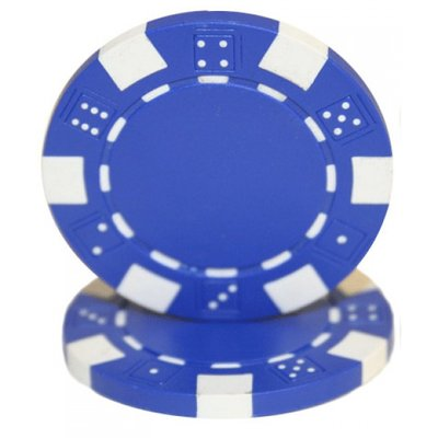 Dice pokerchips blauw