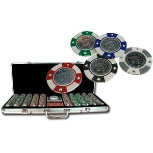 Pokerset 500 AKQJ metal coin inlay